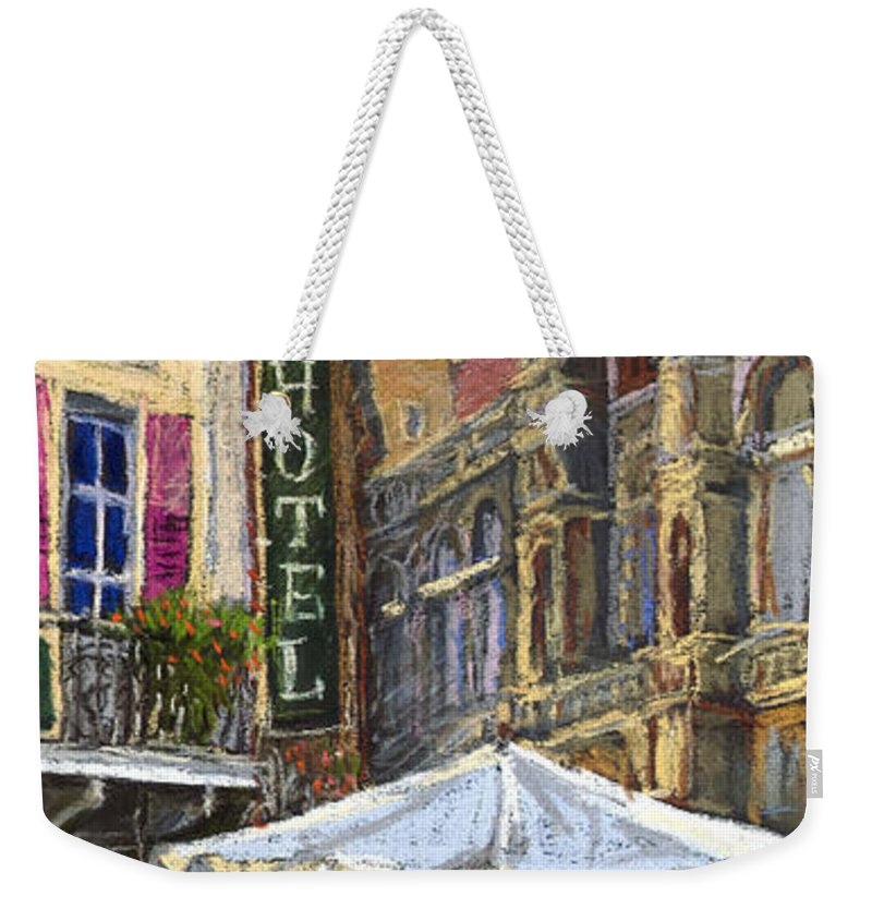 Pastel Weekender Tote Bag featuring the painting Germany Baden-baden 07 by Yuriy Shevchuk