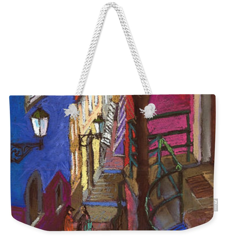 Pastel Weekender Tote Bag featuring the painting Germany Baden-baden 08 by Yuriy Shevchuk