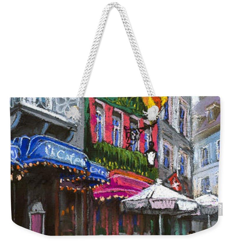 Pastel Weekender Tote Bag featuring the painting Germany Baden-baden 10 by Yuriy Shevchuk