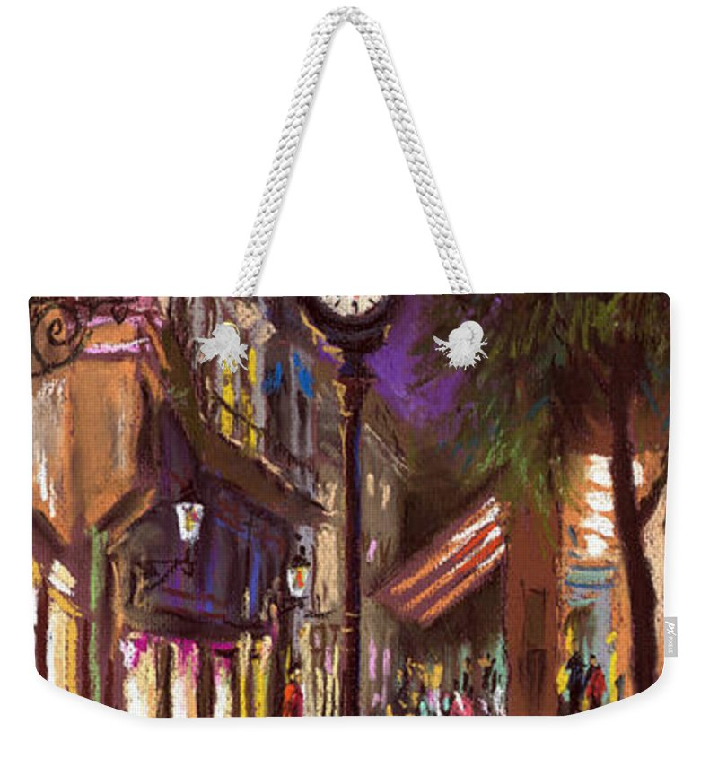 Pastel Weekender Tote Bag featuring the painting Germany Baden-baden 11 by Yuriy Shevchuk