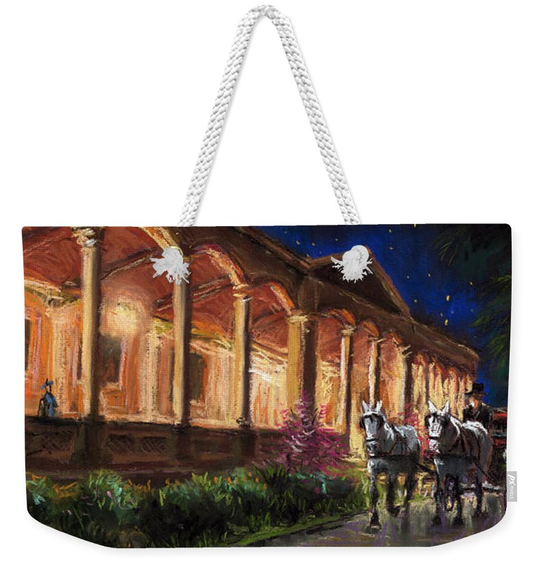 Pastel Weekender Tote Bag featuring the painting Germany Baden-baden 13 by Yuriy Shevchuk