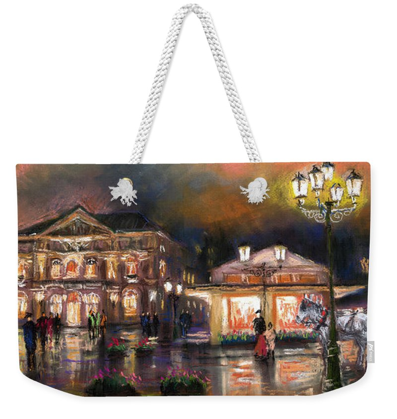Pastel Weekender Tote Bag featuring the painting Germany Baden-baden 14 by Yuriy Shevchuk