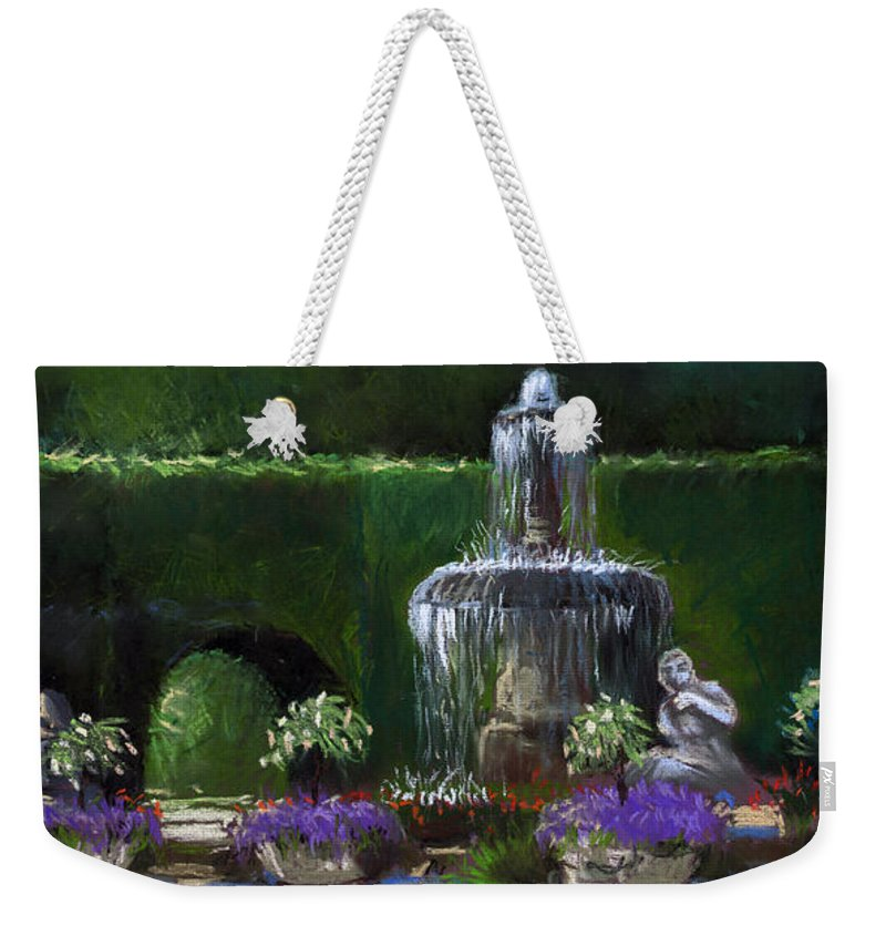Pastel Weekender Tote Bag featuring the painting Germany Baden-baden 15 by Yuriy Shevchuk