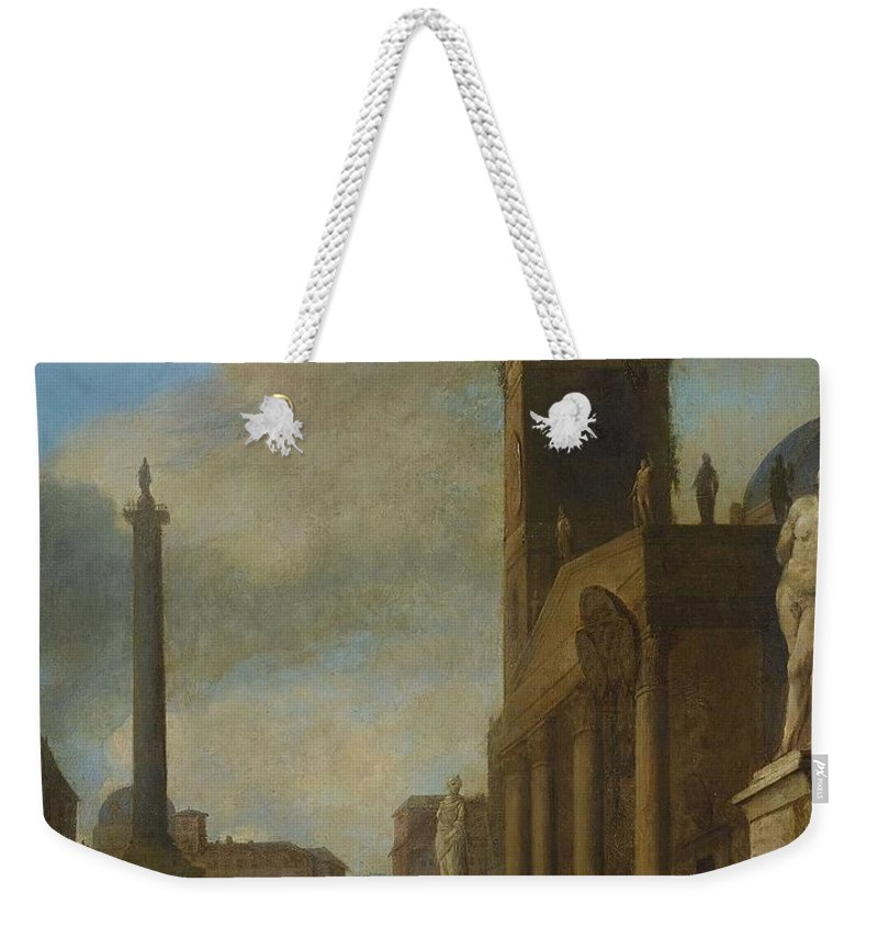 Johannes Lingelbach Germany Holland 1622-1674 Scenery Weekender Tote Bag featuring the painting Germany Holland by MotionAge Designs