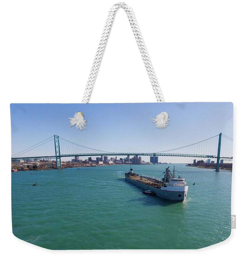 Christopher List Weekender Tote Bag featuring the photograph Getting The Mail by Gales Of November