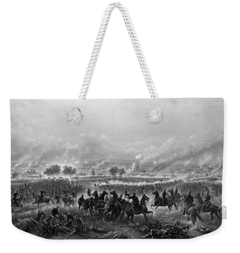 Gettysburg Weekender Tote Bag featuring the painting Gettysburg by War Is Hell Store
