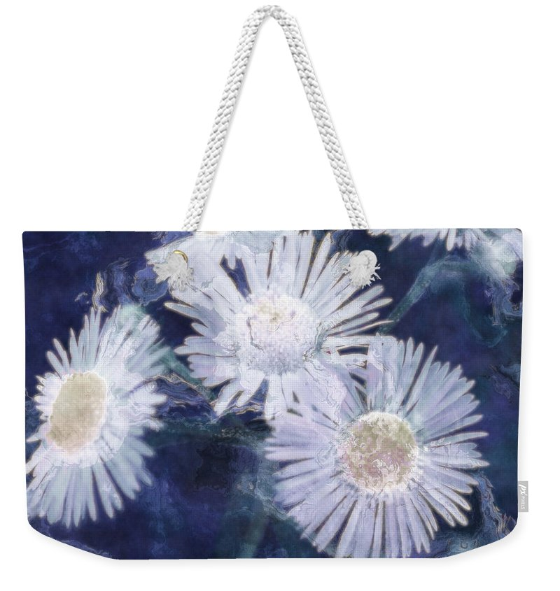Asters Weekender Tote Bag featuring the painting Ghost Flowers by RC deWinter