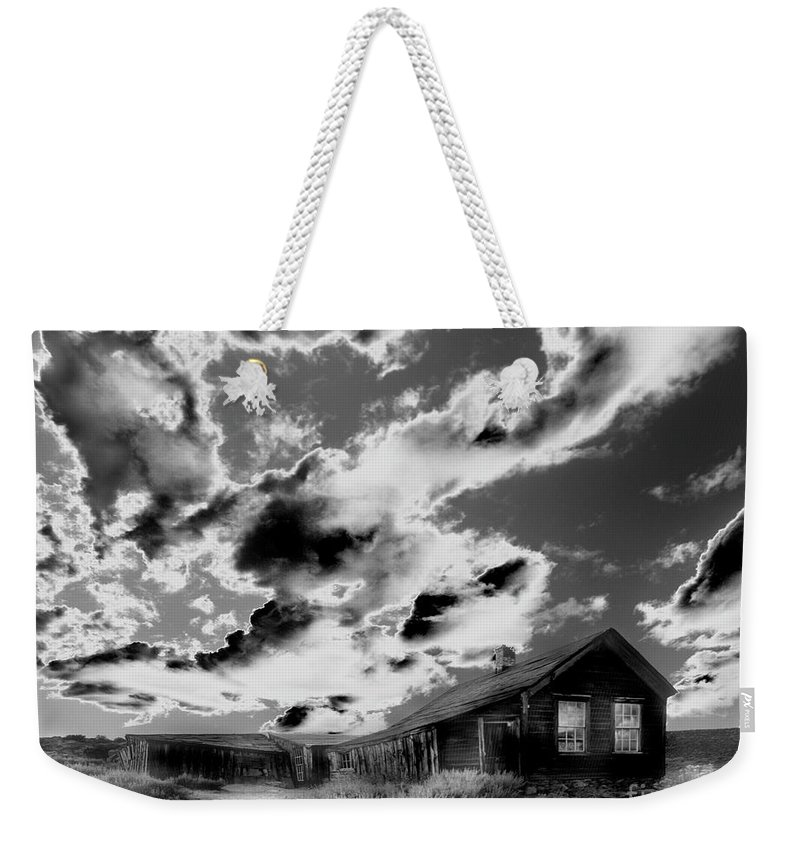 Black Weekender Tote Bag featuring the photograph Ghost House by Jim And Emily Bush