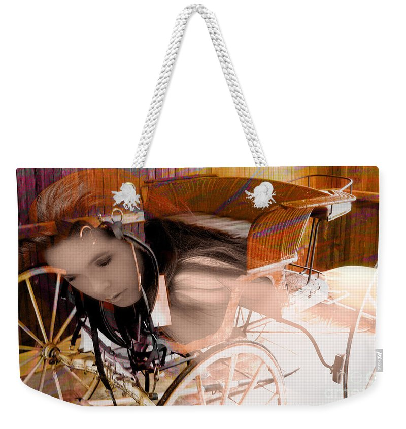 Clay Weekender Tote Bag featuring the photograph Ghost In The Carriage House by Clayton Bruster