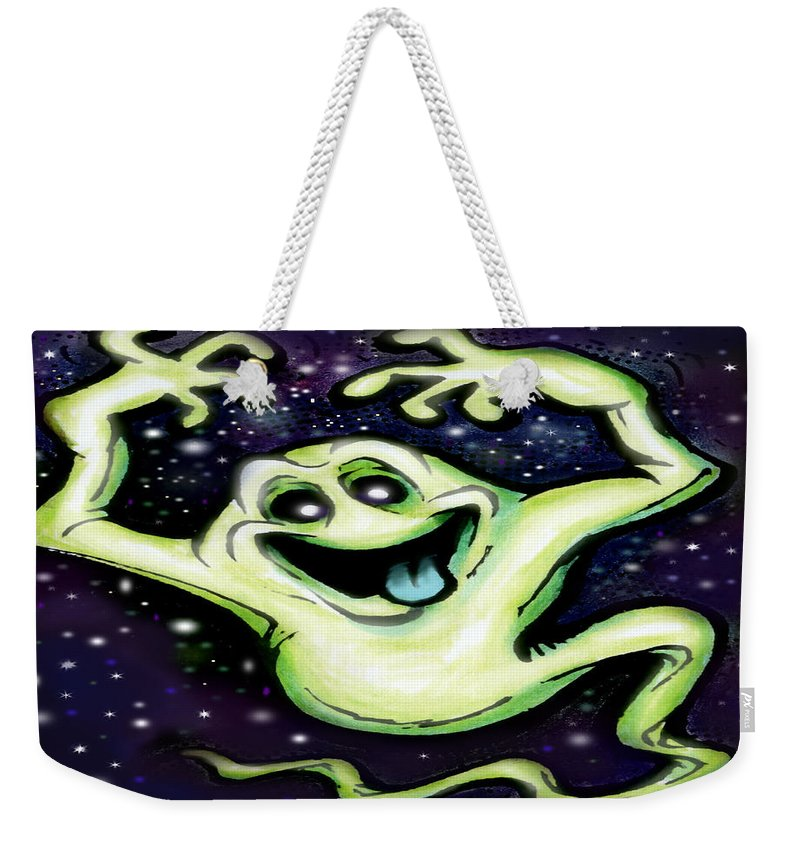 Halloween Weekender Tote Bag featuring the painting Ghost by Kevin Middleton