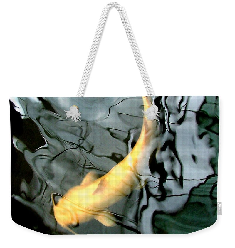 Ghost Weekender Tote Bag featuring the photograph Ghost Koi Carp Fish by Heather Lennox