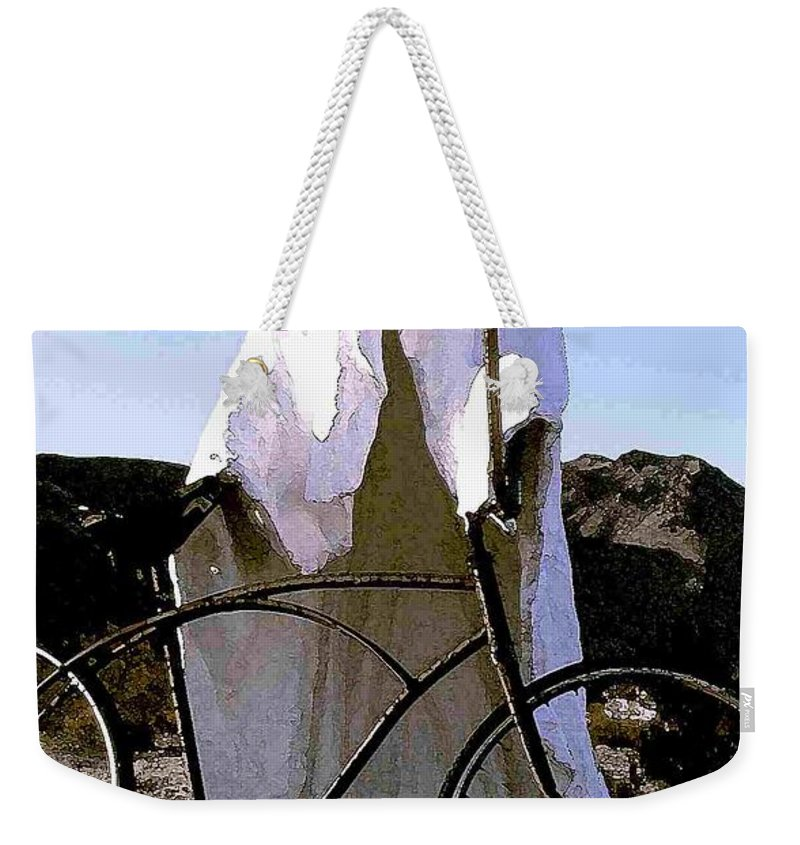 Ghost Weekender Tote Bag featuring the photograph Ghost Rider by Nelson Strong