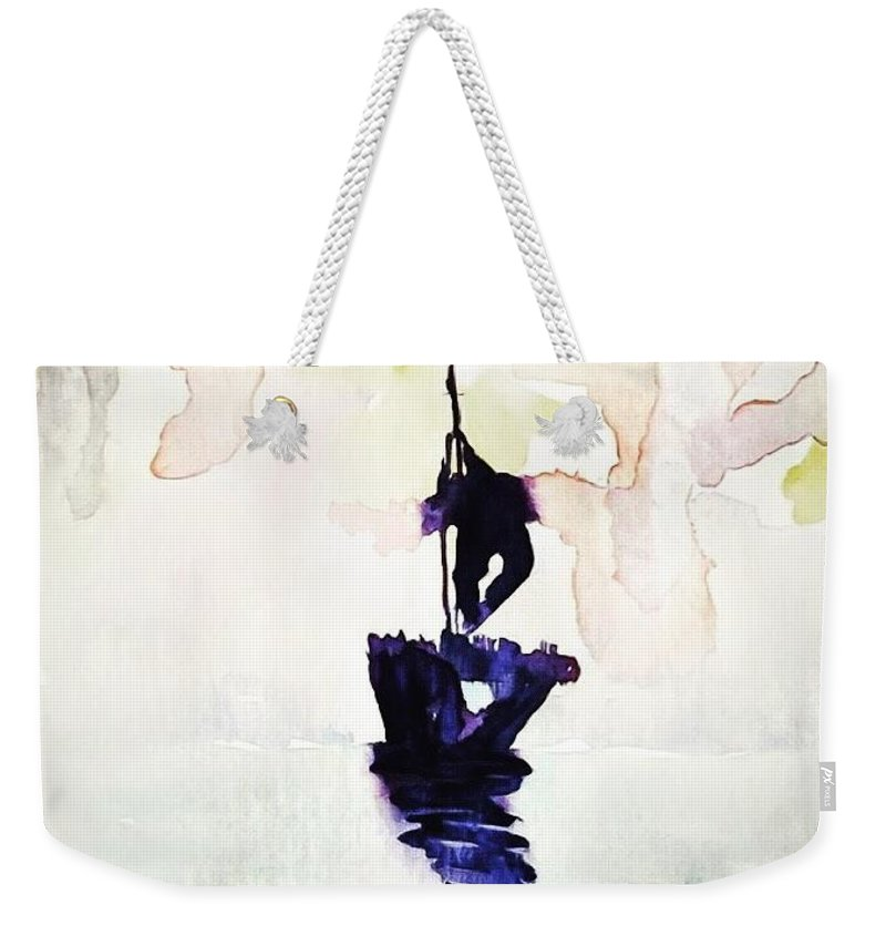 Ghost Ship Weekender Tote Bag featuring the painting Ghost Ship by Jennifer Talbot