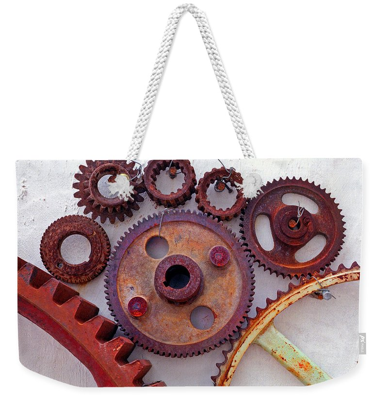 Gears Weekender Tote Bag featuring the photograph Ghost by Skip Hunt