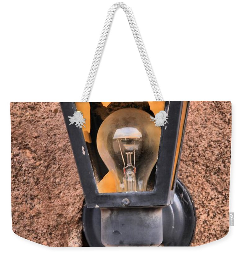 Ghost Town Lamp Weekender Tote Bag featuring the photograph Ghost Town Lamp by Adam Jewell