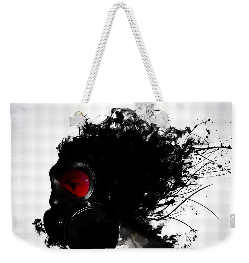 Gas Weekender Tote Bag featuring the mixed media Ghost Warrior by Nicklas Gustafsson