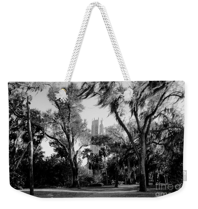 Bok Tower Weekender Tote Bag featuring the photograph Ghostly Bok Tower by David Lee Thompson