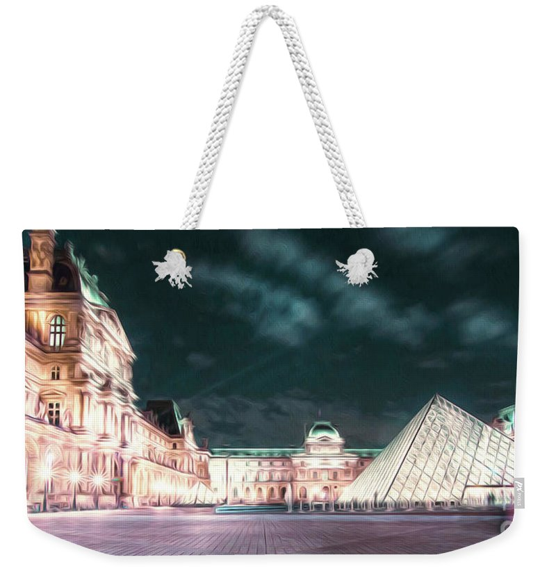 Paris Weekender Tote Bag featuring the photograph Ghosts Of The Louvre Museum 2 Art by Alex Art and Photo