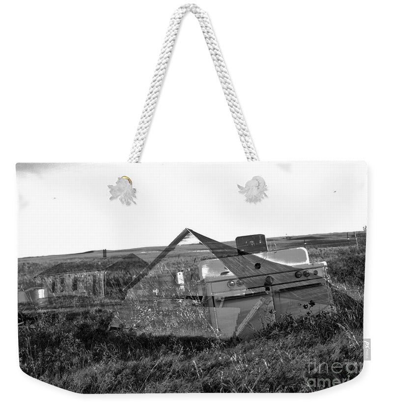 Ghosts Weekender Tote Bag featuring the photograph Ghosts On The Prairie by Jeff Swan