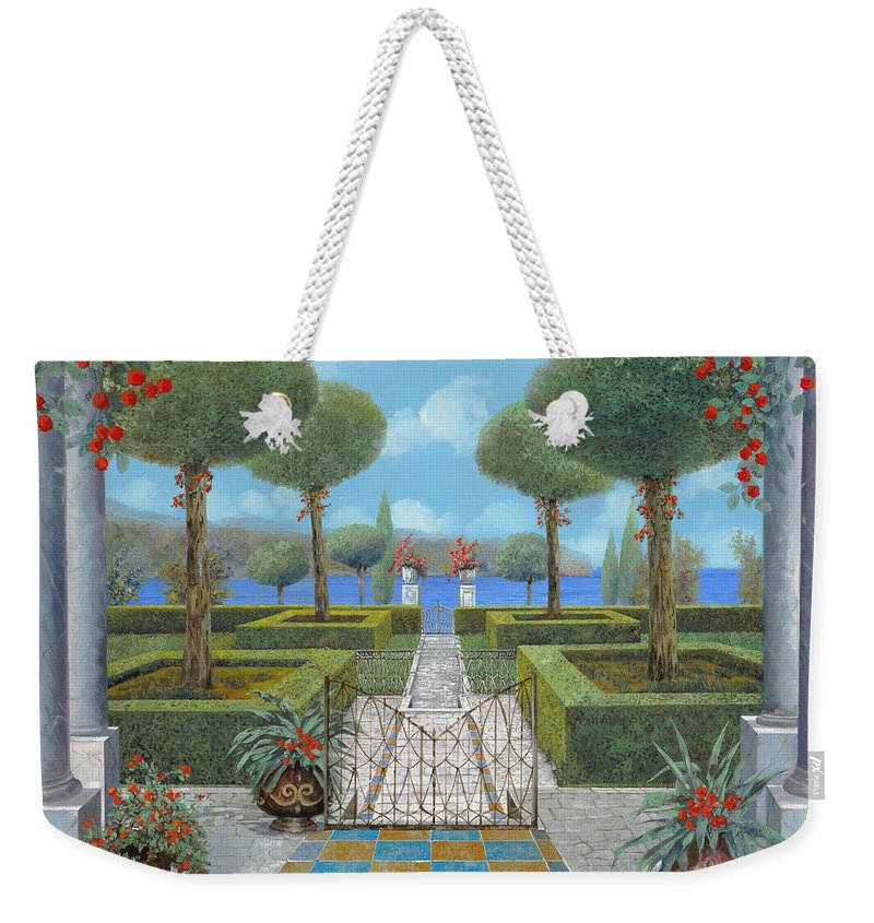 Italian Garden Weekender Tote Bag featuring the painting Giardino Italiano by Guido Borelli