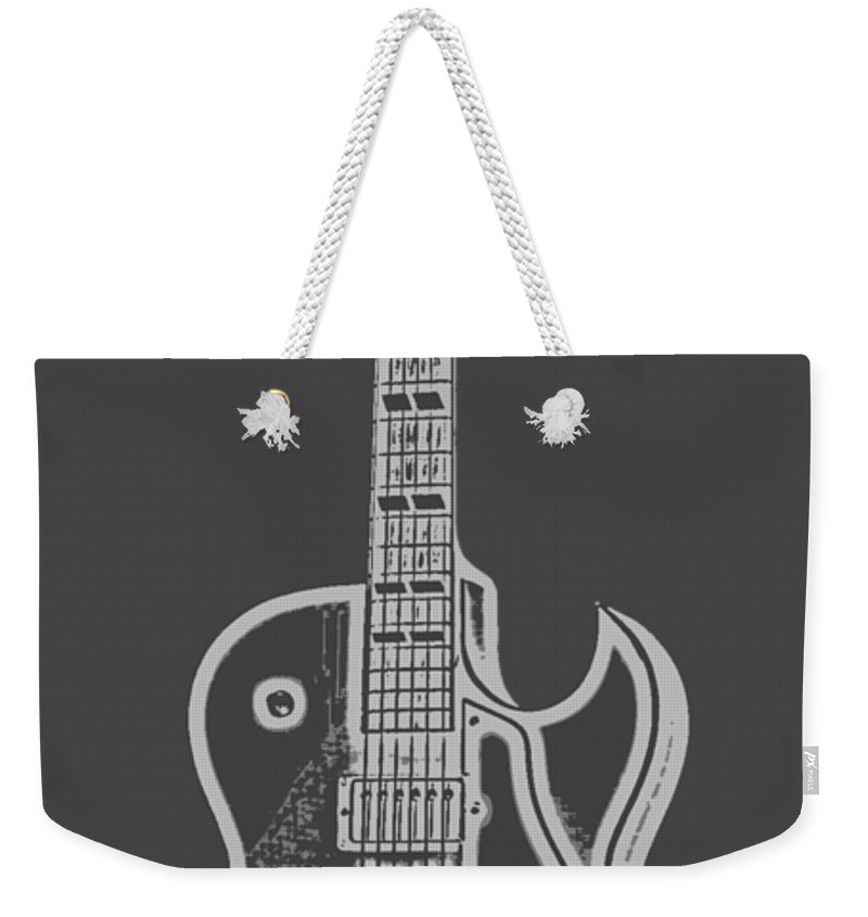 Instrument Weekender Tote Bag featuring the digital art Gibson Es-175 Electric Guitar Tee by Edward Fielding