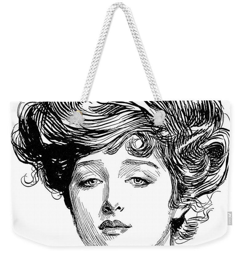 1900 Weekender Tote Bag featuring the photograph Gibson Girl, 1900 by Charles Dana Gibson