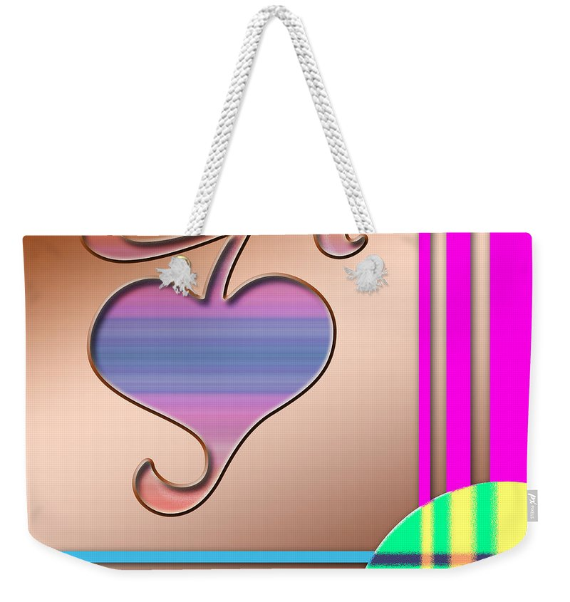 Clay Weekender Tote Bag featuring the digital art Gift Of Love by Clayton Bruster