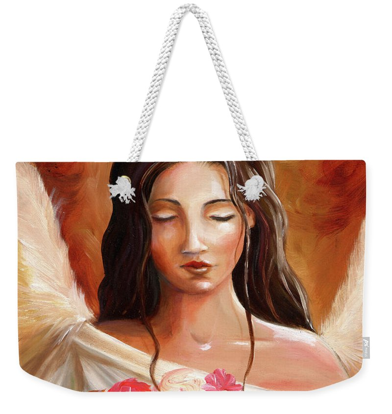 Weekender Tote Bag featuring the painting Gift by Stephanie Paige