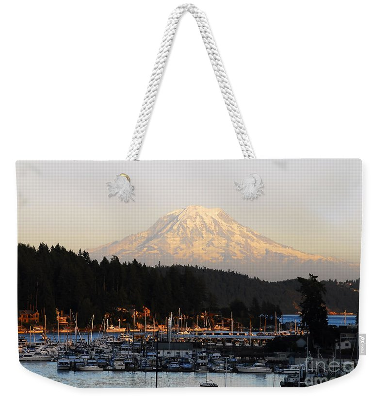 Gig Harbor Washington Weekender Tote Bag featuring the photograph Gig Harbor by David Lee Thompson