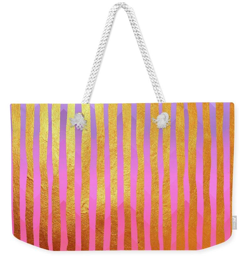 Vertical Line Weekender Tote Bags