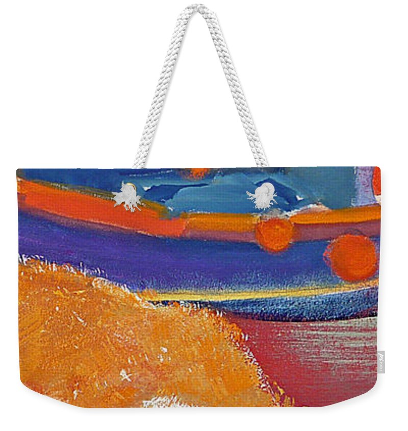 Cat Weekender Tote Bag featuring the painting Ginger by Charles Stuart
