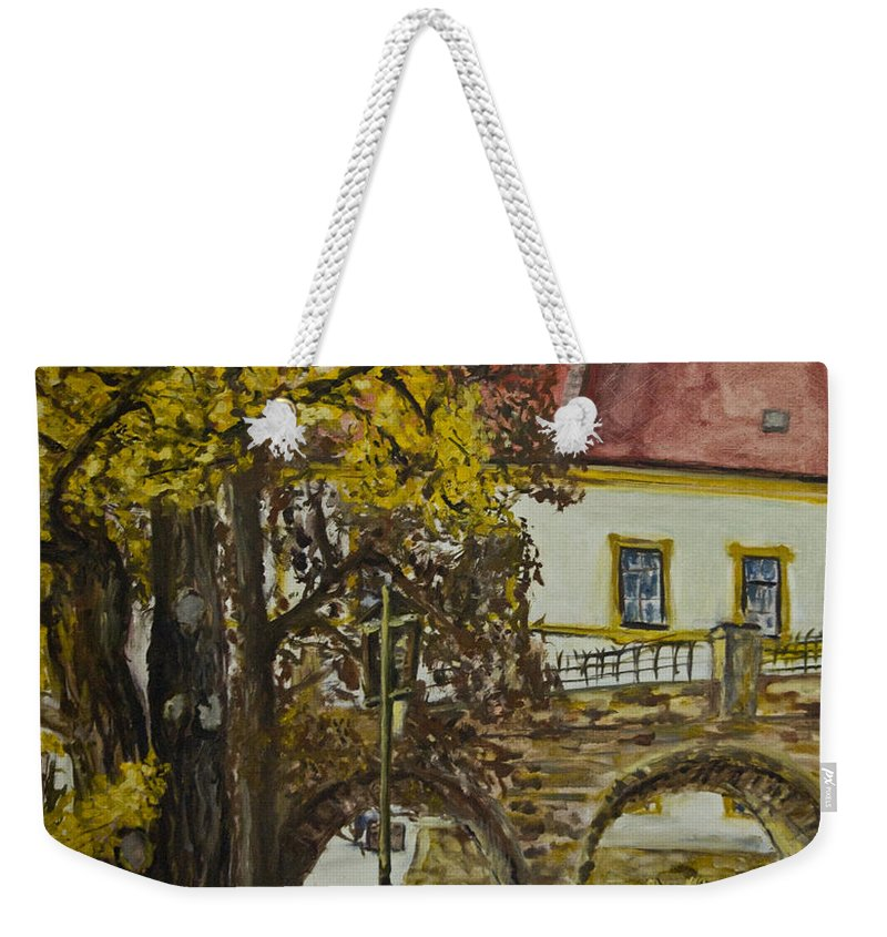 Landscape Weekender Tote Bag featuring the painting Ginko by Pablo de Choros