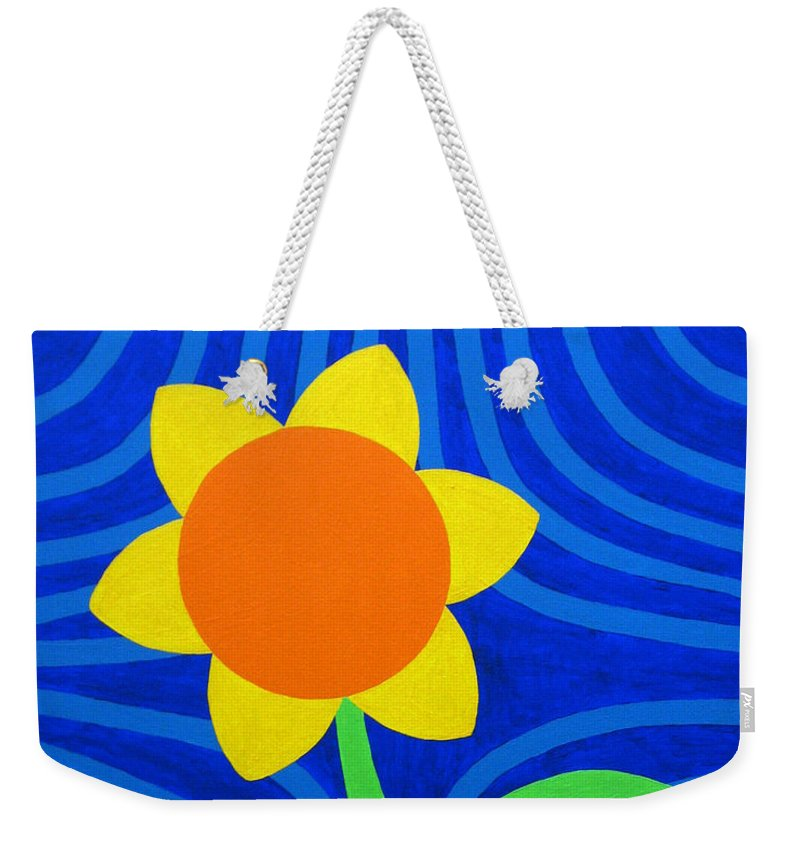 Girasol Weekender Tote Bag featuring the painting Girasol by Oliver Johnston