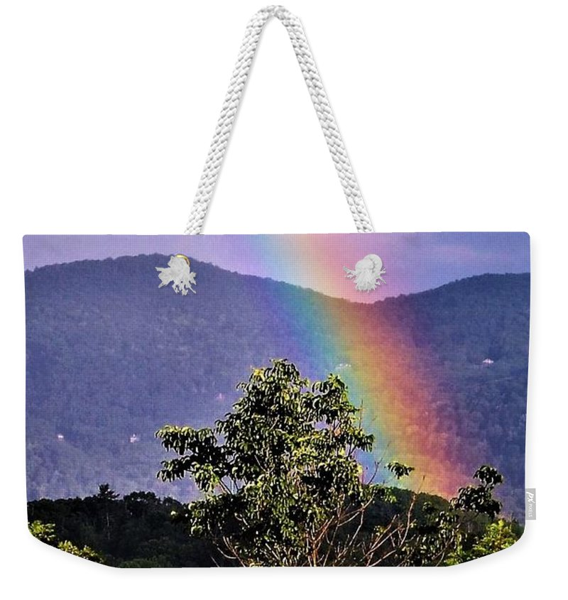 Rainbow Weekender Tote Bag featuring the photograph Everlasting Hope by CK Brown
