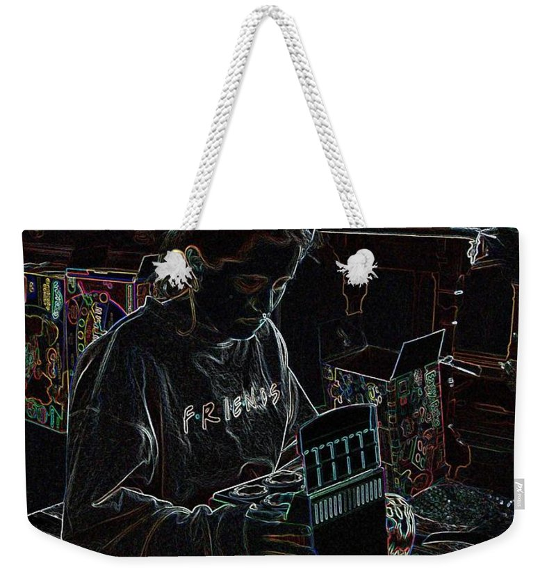 Presents Weekender Tote Bag featuring the photograph Girl With Presents by Ron Bissett