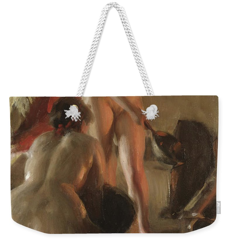 Having Sex Weekender Tote Bags