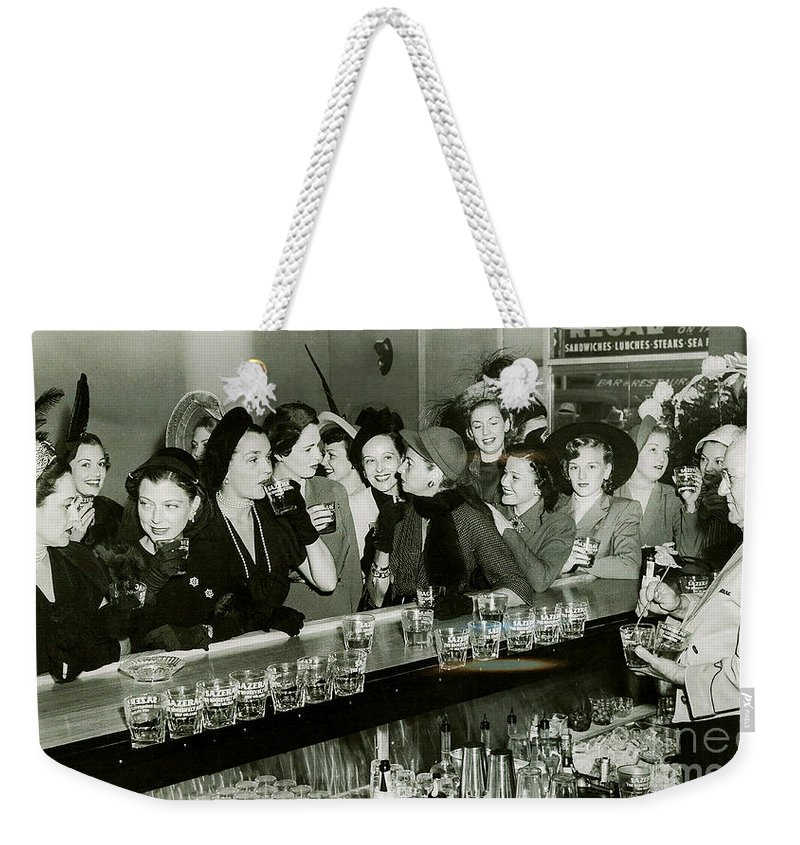 1903 Weekender Tote Bag featuring the photograph Girls Night Out by Jon Neidert