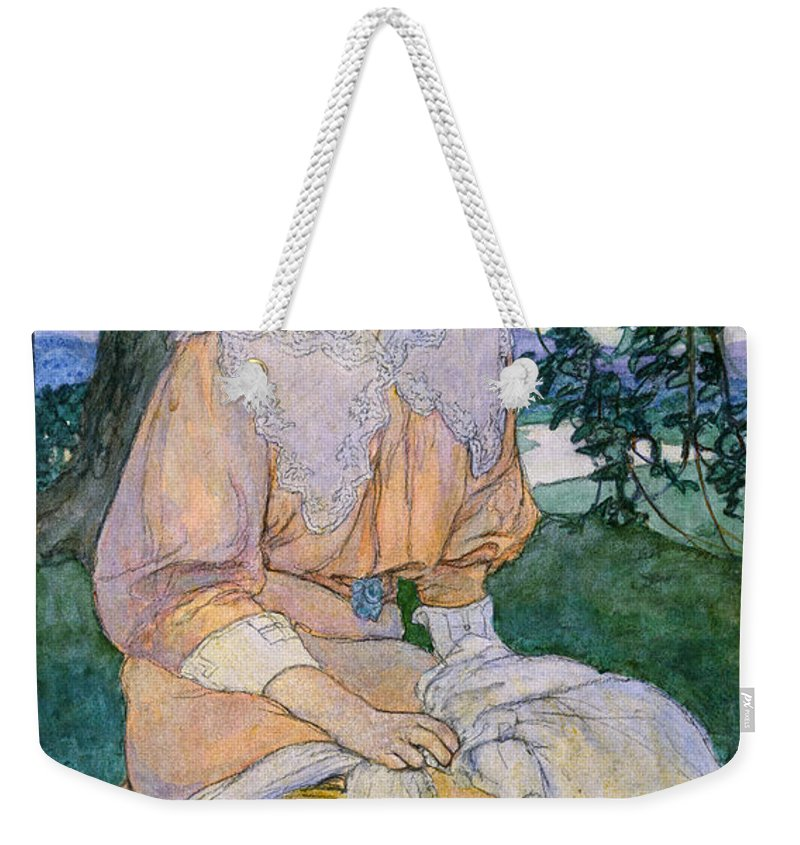 1908 Weekender Tote Bag featuring the painting Gisele C1908 by Justus Miles Forman