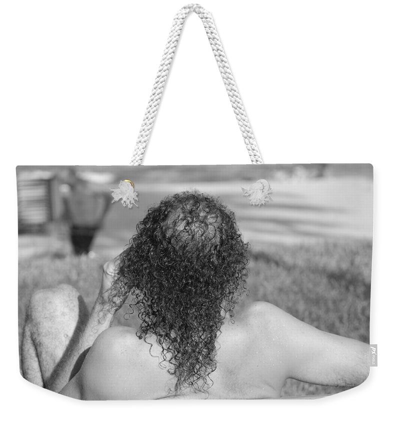 Black And White Weekender Tote Bag featuring the photograph Give It Up Dude by Rob Hans
