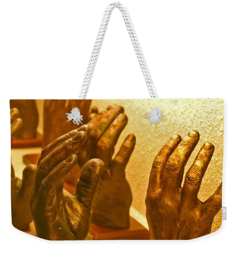 Hands Weekender Tote Bag featuring the photograph Give Them A Hand by Debbi Granruth