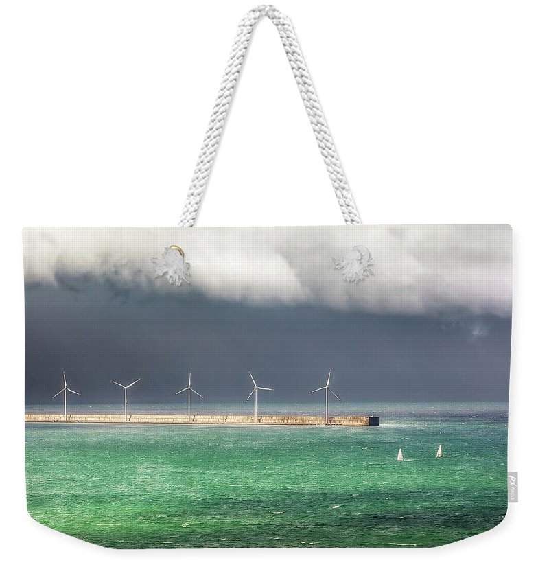 Storm Weekender Tote Bag featuring the photograph Give Up by Mikel Martinez de Osaba