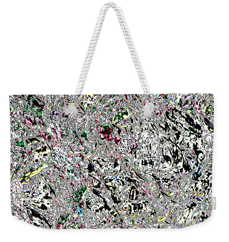 Abstract Weekender Tote Bag featuring the photograph Glacier Abstract by Marv Vandehey