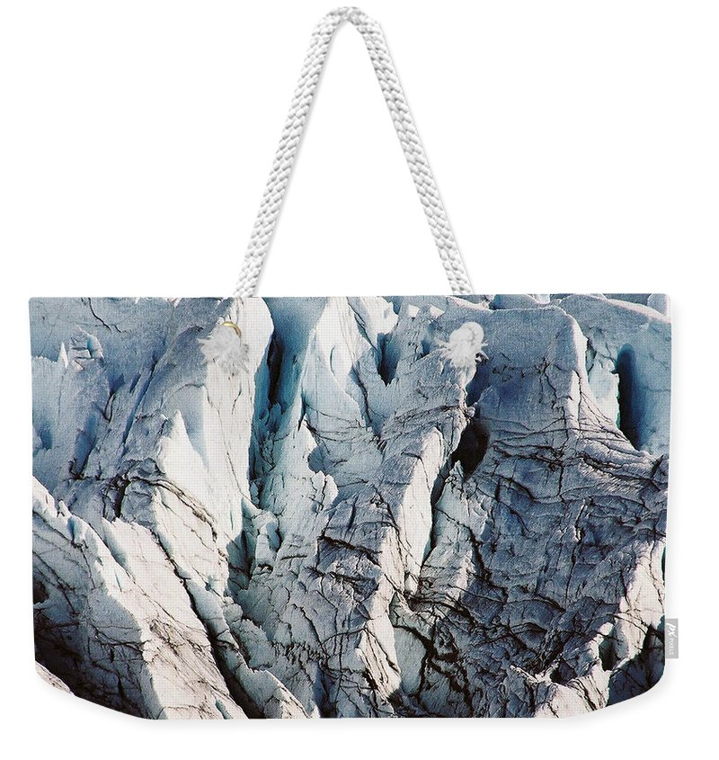Alaska Weekender Tote Bag featuring the photograph Glacier Detail by Kimberly Blom-Roemer