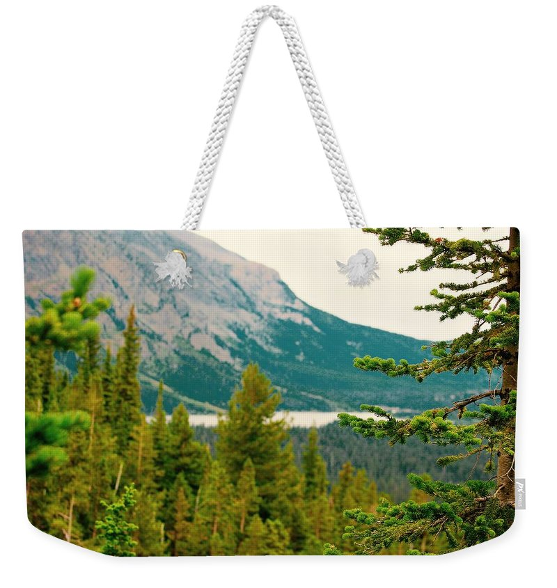 Weekender Tote Bag featuring the photograph Glacier Np View by Matthew Justis