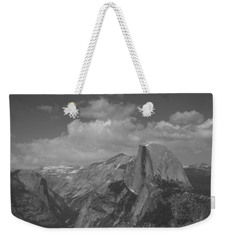 Half Dome Weekender Tote Bag featuring the photograph Glacier Point by Travis Day