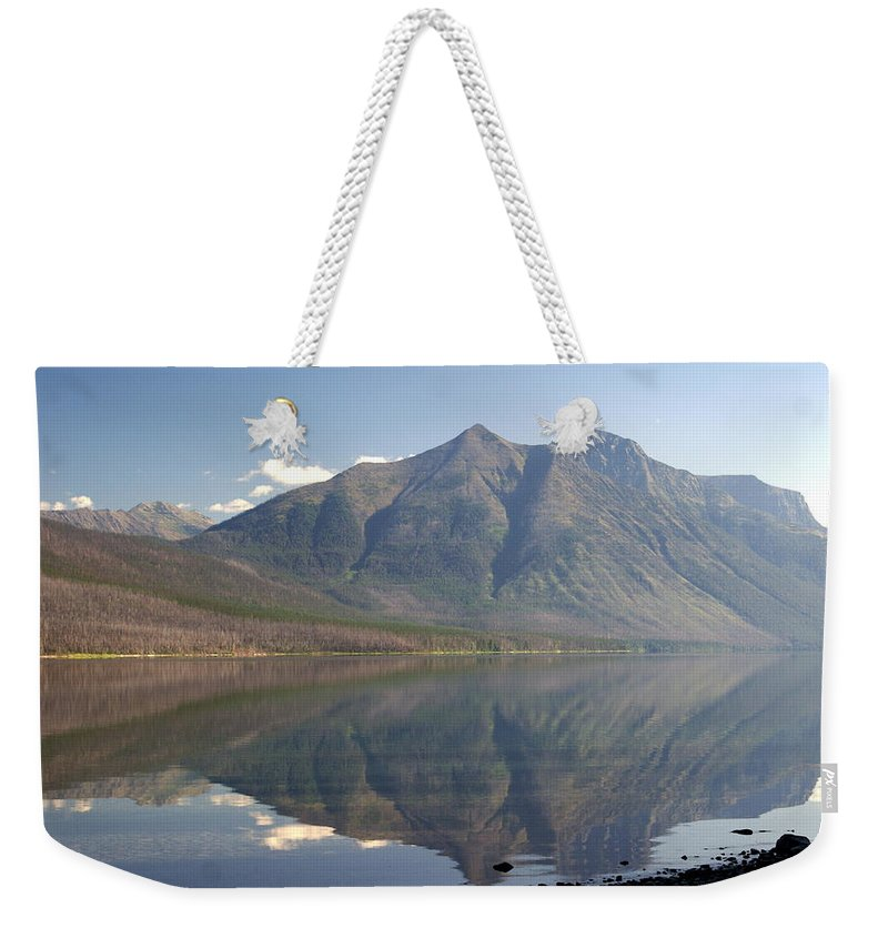 Glacier National Park Weekender Tote Bag featuring the photograph Glacier Reflection1 by Marty Koch