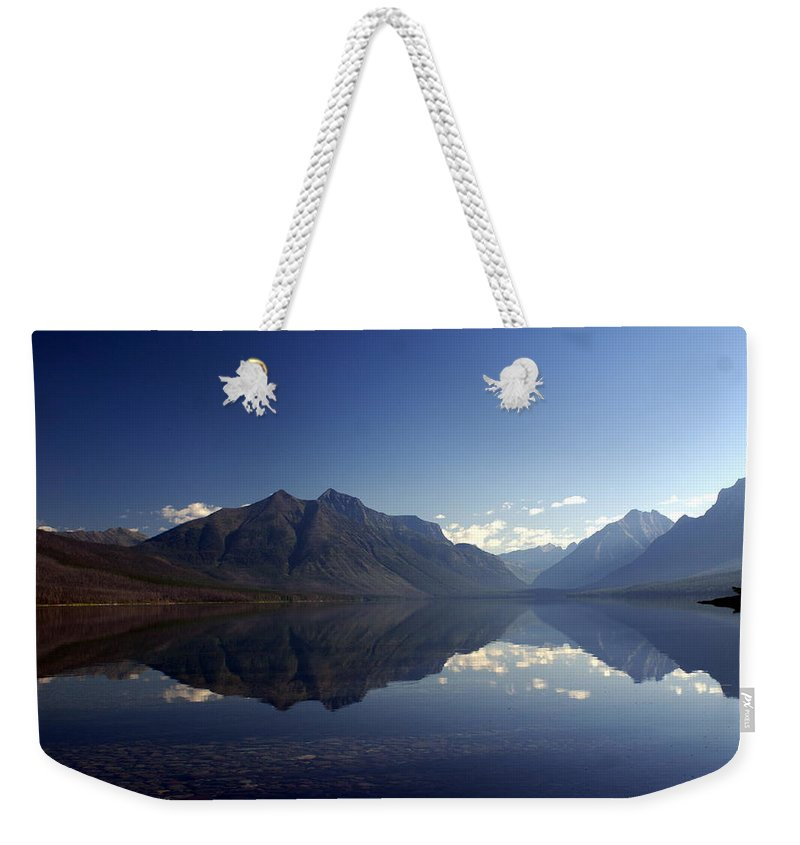 Glacier National Park Weekender Tote Bag featuring the photograph Glacier Reflections 2 by Marty Koch
