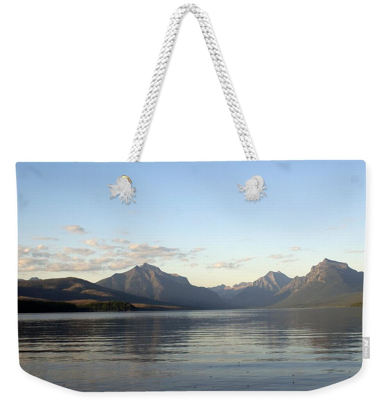 Weekender Tote Bag featuring the photograph Glacier Reflections 3 by Marty Koch