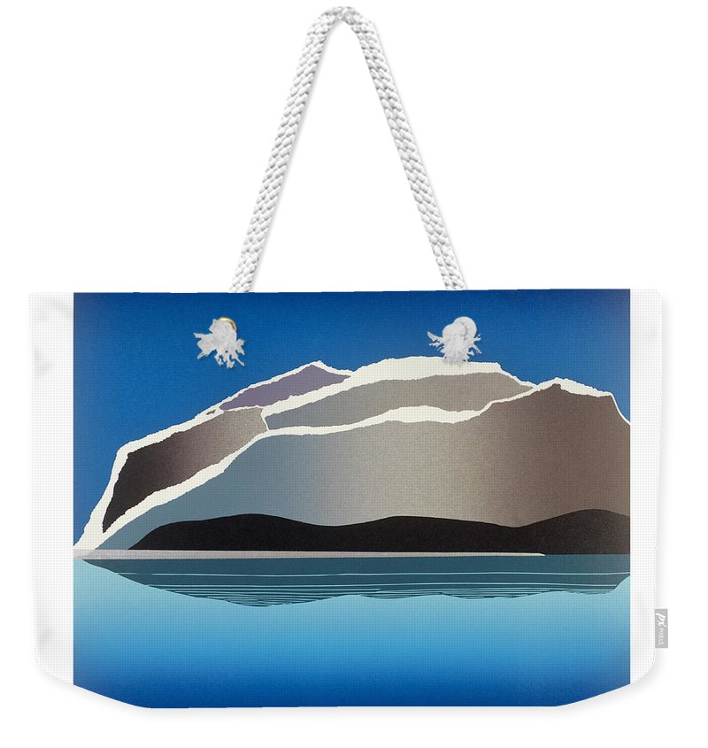 Landscape Weekender Tote Bag featuring the mixed media Glaciers by Jarle Rosseland