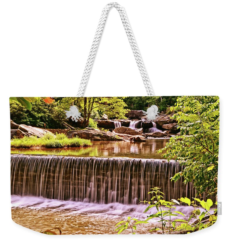 Glade Creek Grist Mill Weekender Tote Bag featuring the photograph Glade Creek 002 by George Bostian